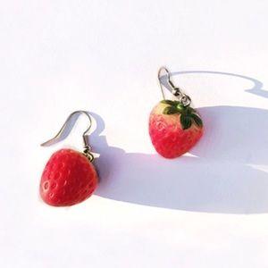 NEW Strawberry Fishhook Earrings